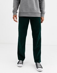 Dickies Cloverport Straight Fit Cord Trouser In Forest Green