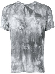 Tom Rebl Abstract Print T Shirt Grey