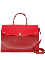 Burberry Small Leather And Suede Elizabeth Bag Red