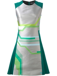Ostwald Helgason Graphic Print Dress Green