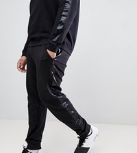 D Struct Plus Jogger With Satin Leg Stripe Black
