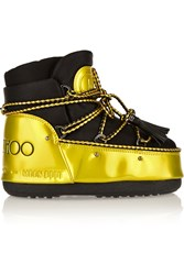 Moon Boot Jimmy Choo Mb Buzz Metallic Faux Patent Leather And Shell Boots