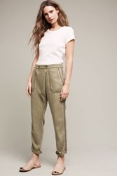 Anthropologie Bradley Chambray Trousers Moss