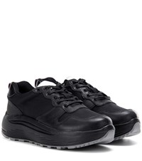 Eytys Jet Combo Leather Trimmed Sneakers Black