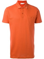 Sunspel Riviera Polo Shirt Yellow Orange