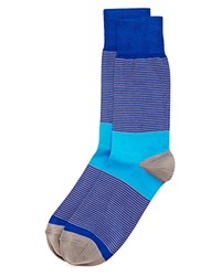 Bruno Magli Thin Stripe Socks Blue
