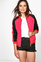 Boohoo Contrast Quilted Jacket Red
