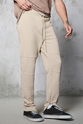 Forever 21 Slim Fit French Terry Joggers Taupe