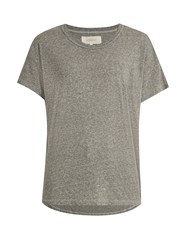 The Great Shirttail Round Neck Jersey T Shirt Grey