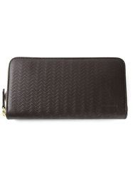 Zanellato Wavy Textured Wallet Brown