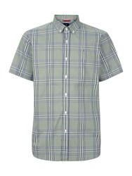 Victorinox Bundner Short Sleeve Check Shirt Green