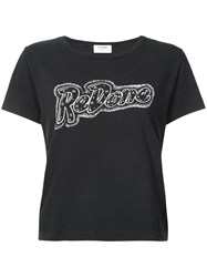 Re Done Doll Graphic Tee Black