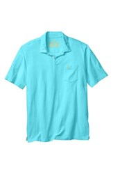Men's Big And Tall Tommy Bahama 'Bali Sky' Pima Cotton Polo Aqua Blue
