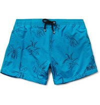 Hugo Boss Mid Length Embroidered Swim Shorts Blue