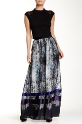Abs By Allen Schwartz Printed Maxi Skirt Multi