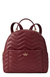 Kate Spade New York Reese Park Ethel Leather Backpack Red Cherrywood
