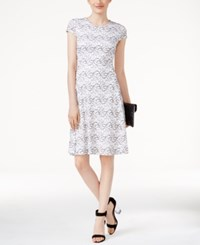 Alfani Lace Fit And Flare Dress Only At Macy's Bright White