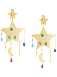 Mercedes Salazar Large Star Earrings Gold