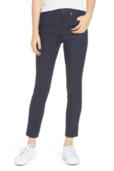 Madewell 9 Inch High Waist Ankle Skinny Jeans Flocked Dots