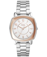 Fossil Women's Idealist Stainless Steel Bracelet Watch 36Mm Es4194 Silver