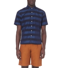 Oliver Spencer Slim Fit Stripe Shirt Albany Blue