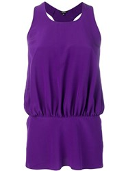 Aspesi Gathered Racer Back Vest Purple