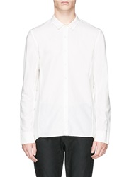 The Viridi Anne Cross Seam Back Cotton Linen Shirt White