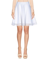 Alaia Knee Length Skirts White