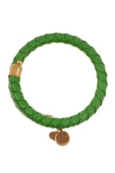 Alex And Ani Palm Green Braided Leather Wrap Bracelet