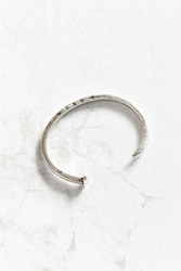Giles And Brother Skinny Railroad Spike Silver Cuff Bracelet