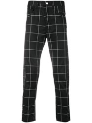 Love Moschino Checked Trousers Black