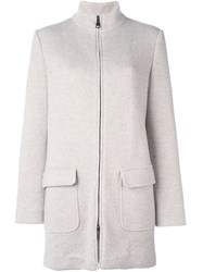 Manzoni 24 Zipped Short Coat Nude And Neutrals