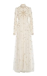 Cucculelli Shaheen Eye And Sun Constellations Gown White
