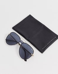 Quay Australia Notorious Aviator Sunglasses In Black