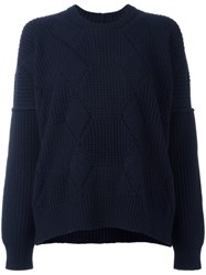 Comme Des Garcons Junya Watanabe Thick Jumper Blue