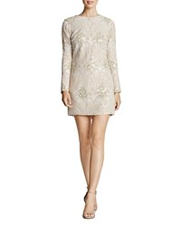 Dress The Population Naomi Damask Mini White Blush