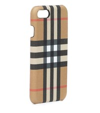 Burberry Check Leather Iphone 6S Case Beige