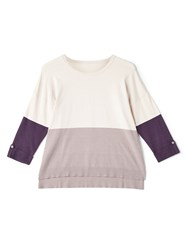 Dash Colour Block Jumper Neutral