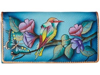 Anuschka 1095 Hawaiian Twilight Checkbook Wallet Blue
