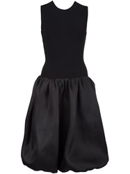 Oscar De La Renta Criss Cross Back Dress Black