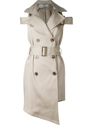 Wanda Nylon Sleeveless Trench Coat Nude And Neutrals