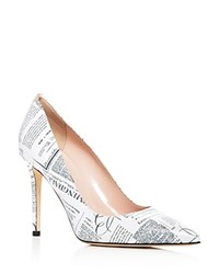 Sarah Jessica Parker Sjp By Fawn Bloomingdale's Newsprint Leather Pumps 100 Exclusive