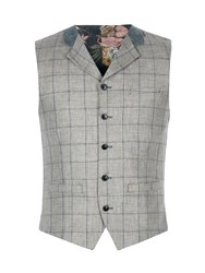 Gibson Men's Grey Pick And Pick Check Vest Grey