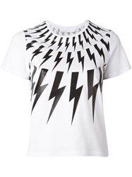 Neil Barrett 'Lightning Bolt' T Shirt White
