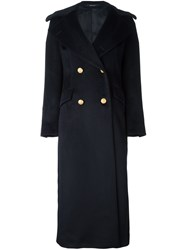 Tagliatore 'Britta' Long Coat Blue