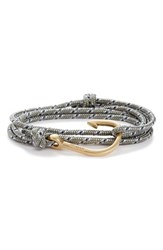 Miansai Men's Brass Hook Rope Wrap Bracelet