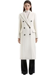 Tagliatore Double Breasted Angora Wool Coat
