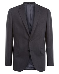 Jaeger Men's Chalk Pinstripe Regular Jacket Charcoal