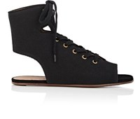 Chloe Women's Canvas Lace Up Gladiator Sandals Black No Color Black No Color