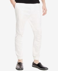 Kenneth Cole Reaction Men's Twill Jogger Pants White